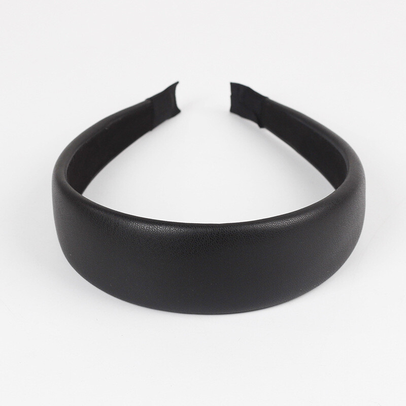 4cm-wide soft leather thinly padded headband