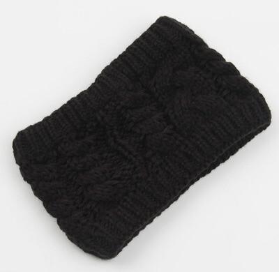 Thick loop crochet headband