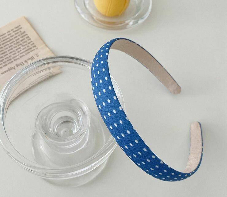Blue chiffon headband in assorted printings