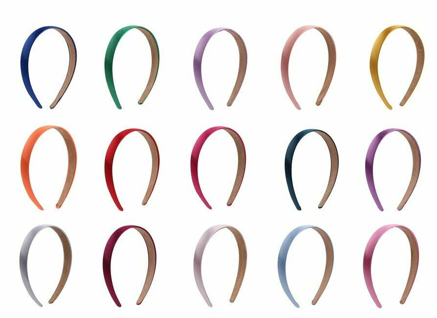 2cm glossy satin headband - 30 pieces
