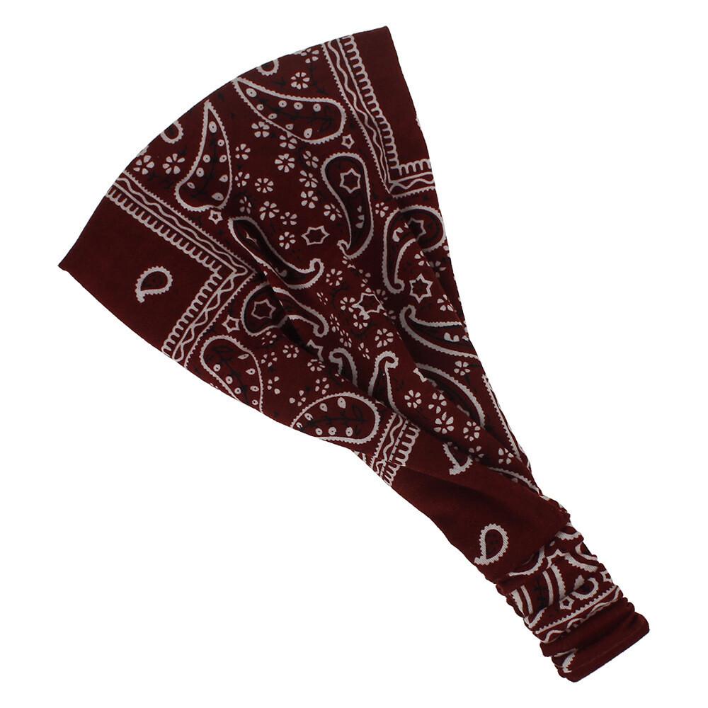 Double-layer Amoeba patterned bandanna headband