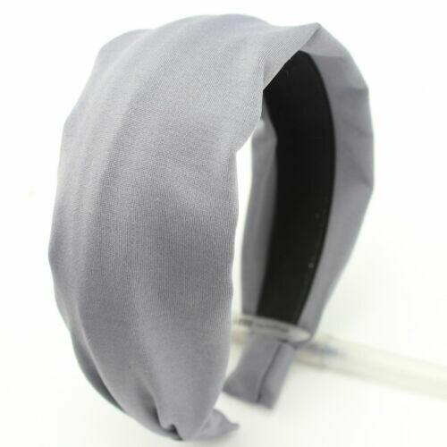 Plain colours soft fabric wide headband