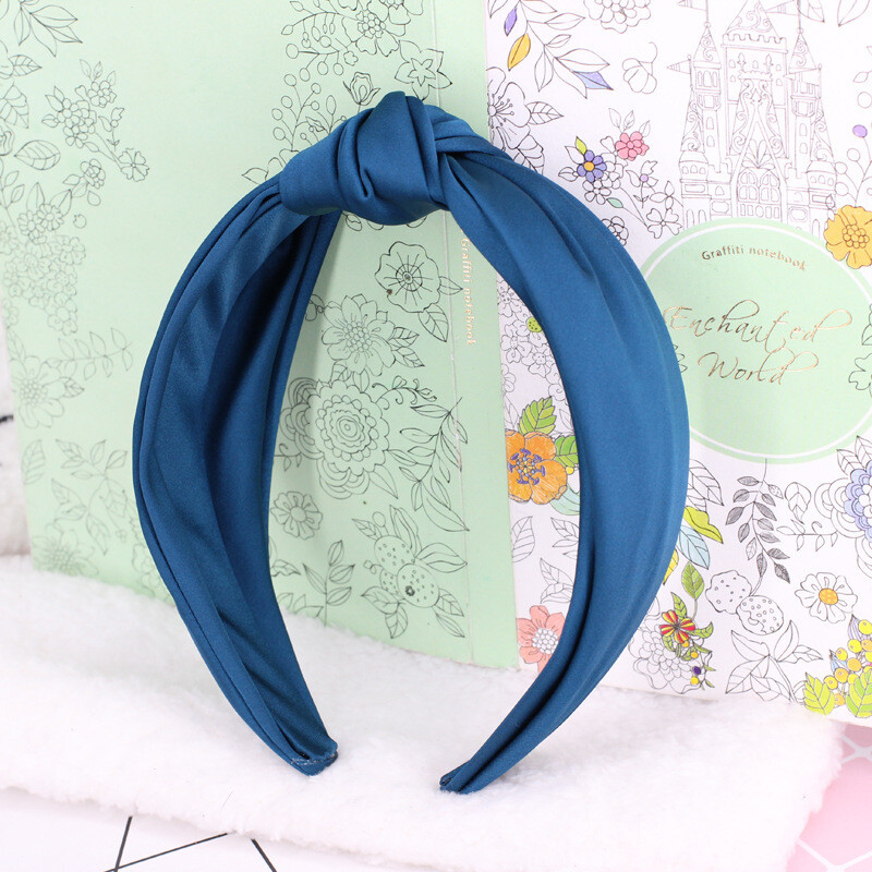 Silky satin knotted headband
