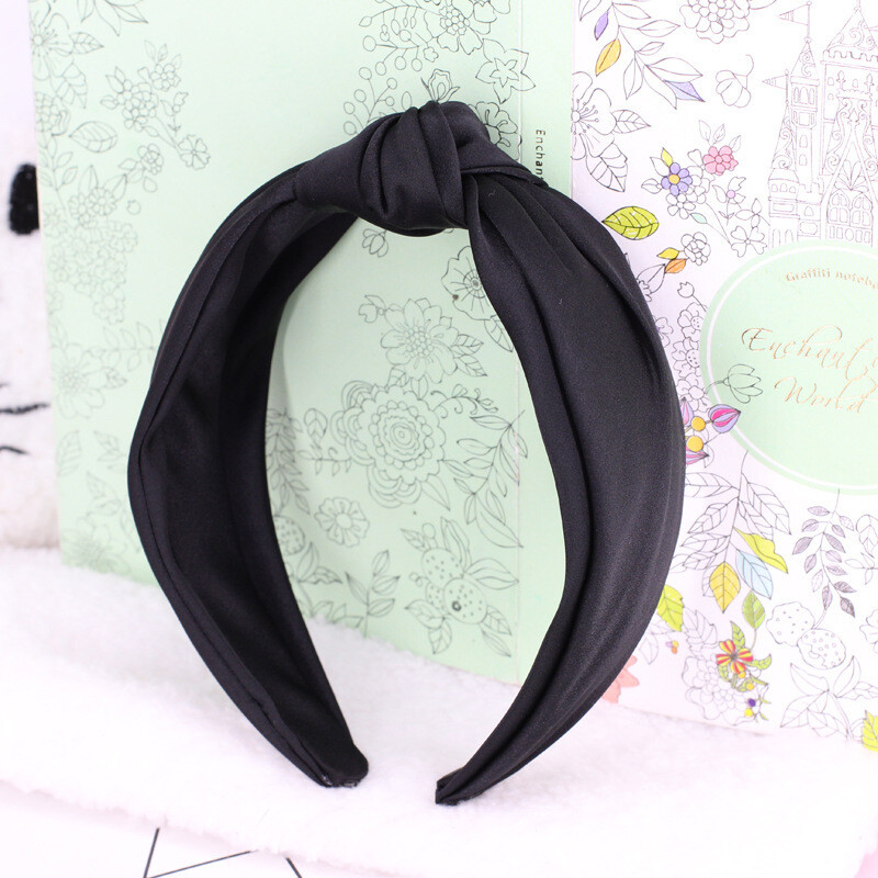 Silky satin knotted headband