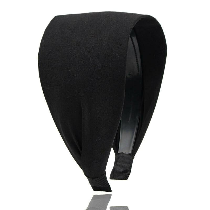8cm wide plain colour headband