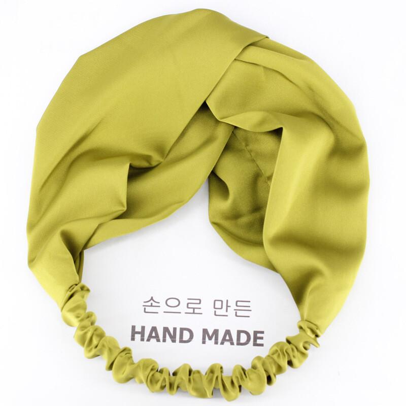 Silky satin elastic turban headband