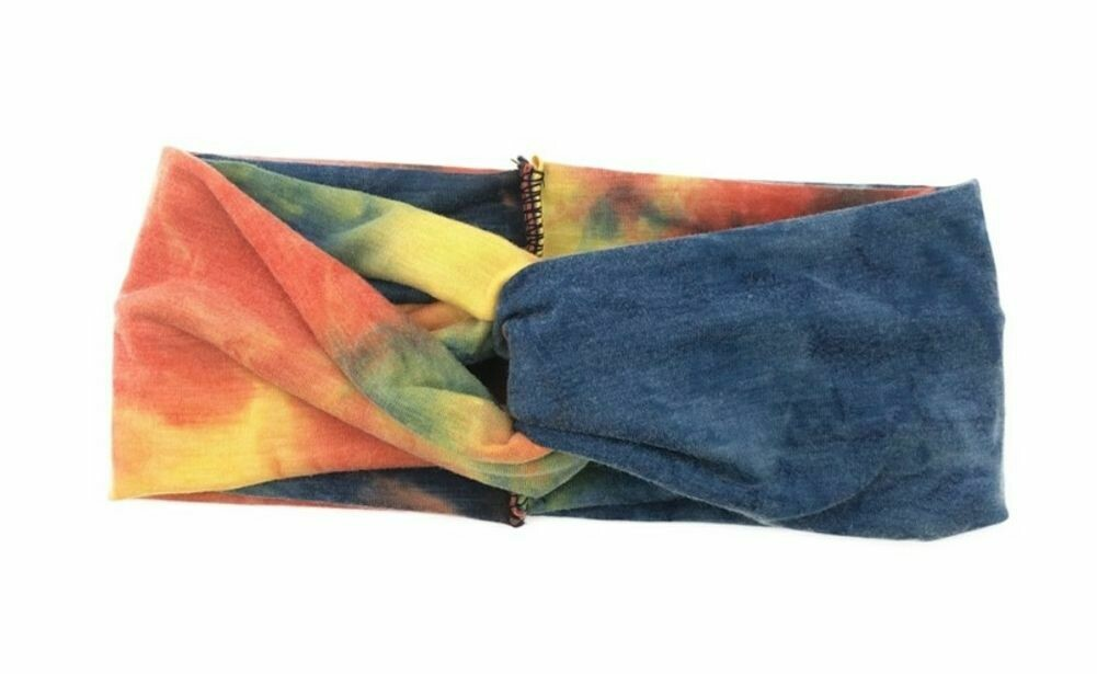 Tie-dye turban headband