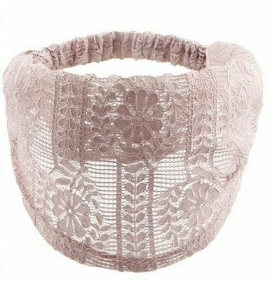Flower wreath patterned lace bandanna headband