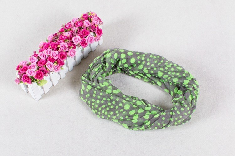 Neon dots infinity scarf