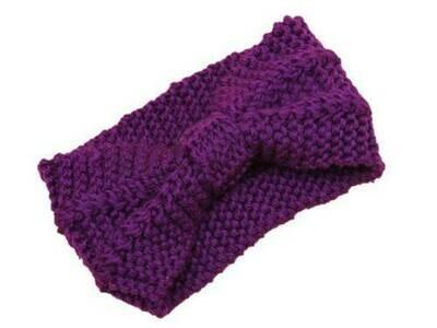 Two way knot wide crochet headband
