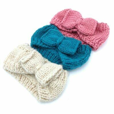 Crochet loop headband with