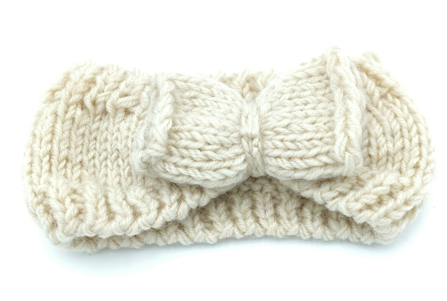 Crochet loop headband with