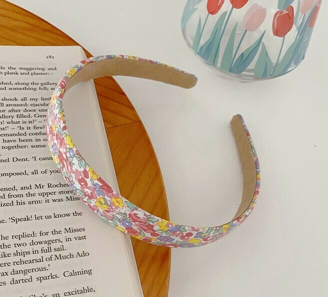 2cm wide cotton headband in floral