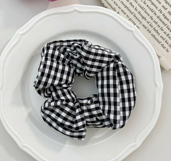 Gingham scrunchies