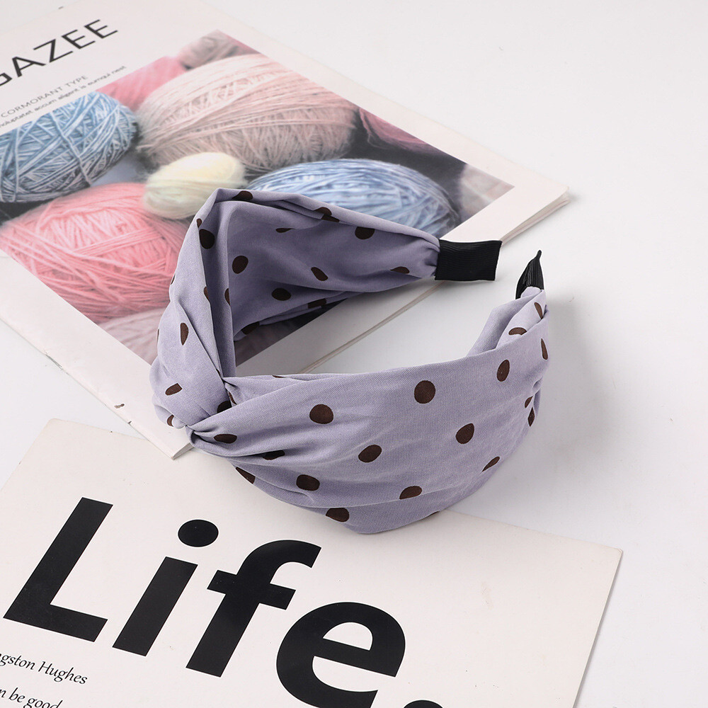 Twist front polka dots headband