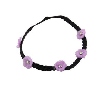 Chiffon flower wreath elastic headband