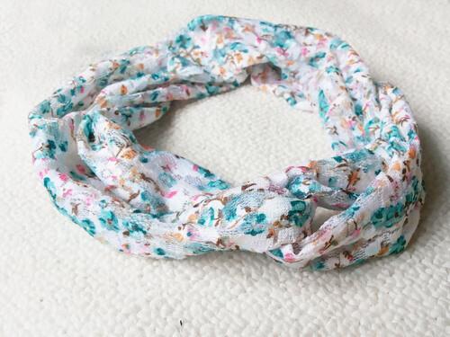 Vintage floral lace turban headband
