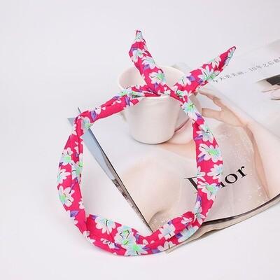 Pretty flowers twist hair scarf
