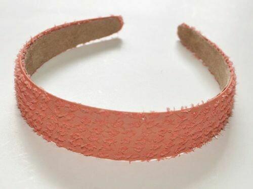 Glitter chiffon wide headband