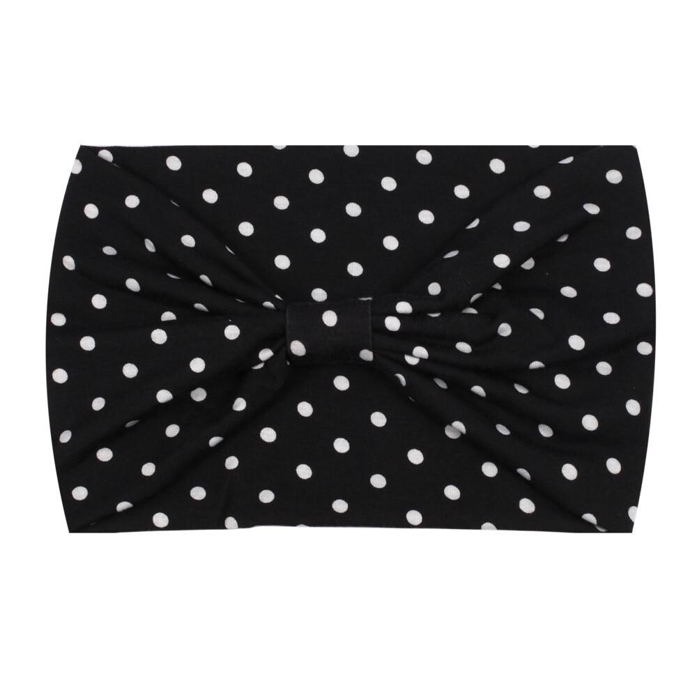 2-way Polka dots bandanna headband