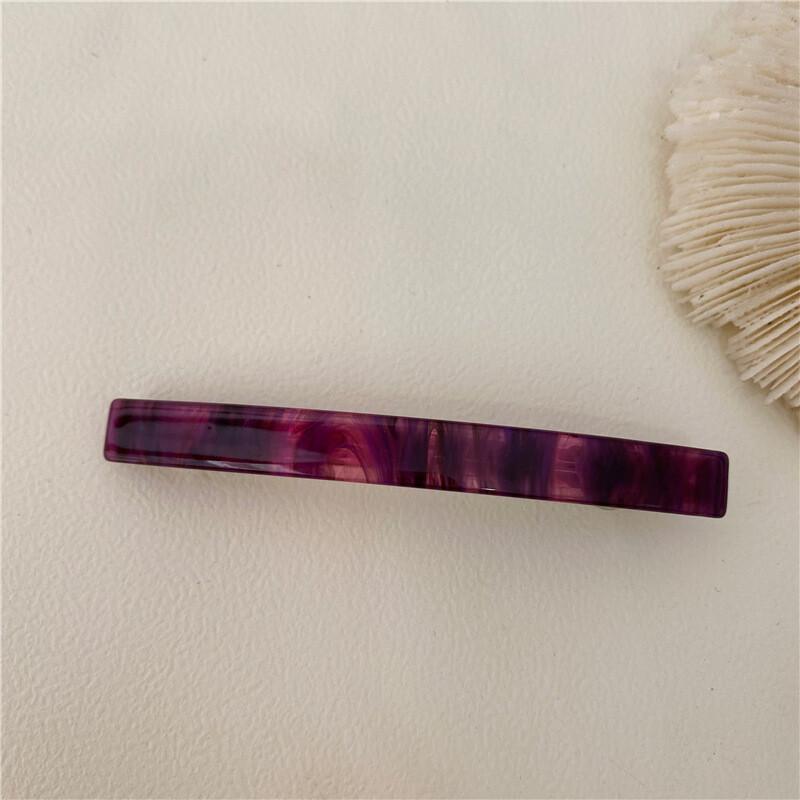 Multi-coloured super slim resin hair barrette