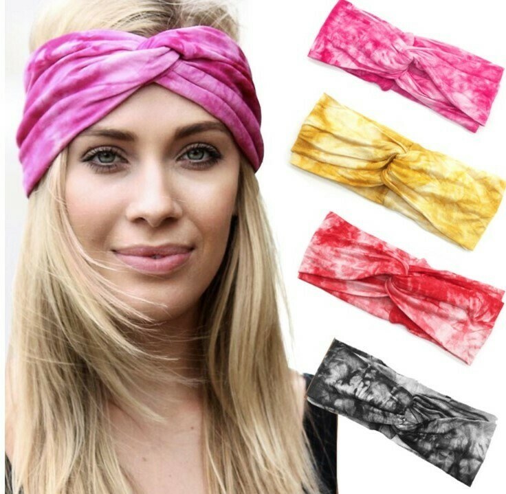 Super soft tie-dye turban headband