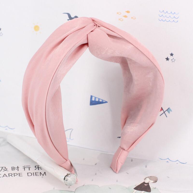 Twist front soft plain headband