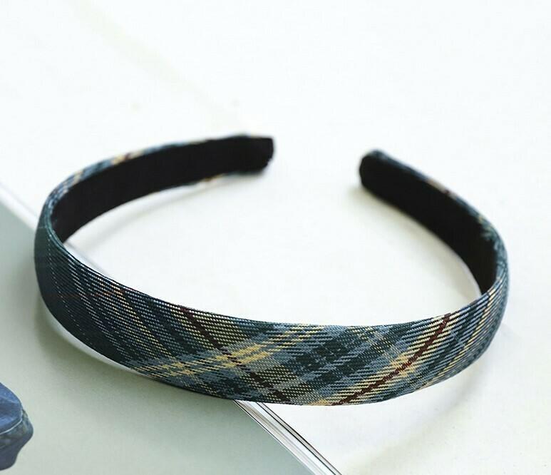 2cm-wide scotch plaids headband