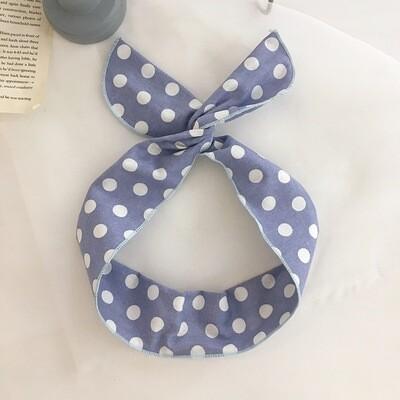 Polka dots cotton twist hair scarf