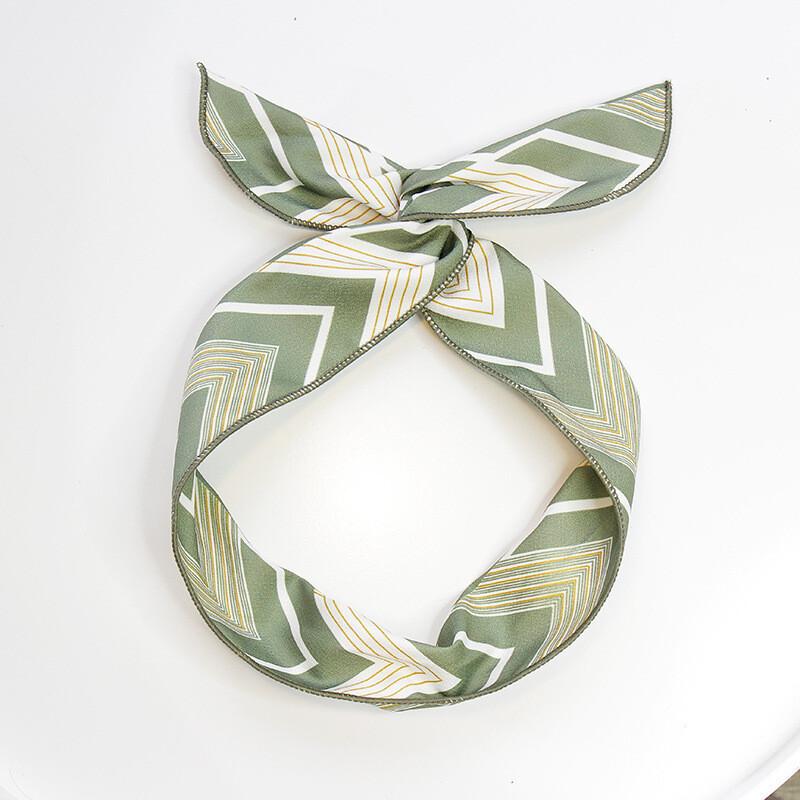 Cotton twist hair scarf in arrow prints