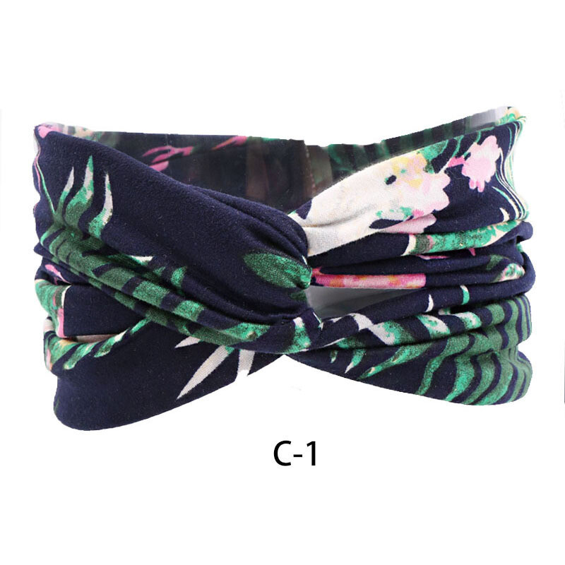 Sporty turban headband in assorted printings