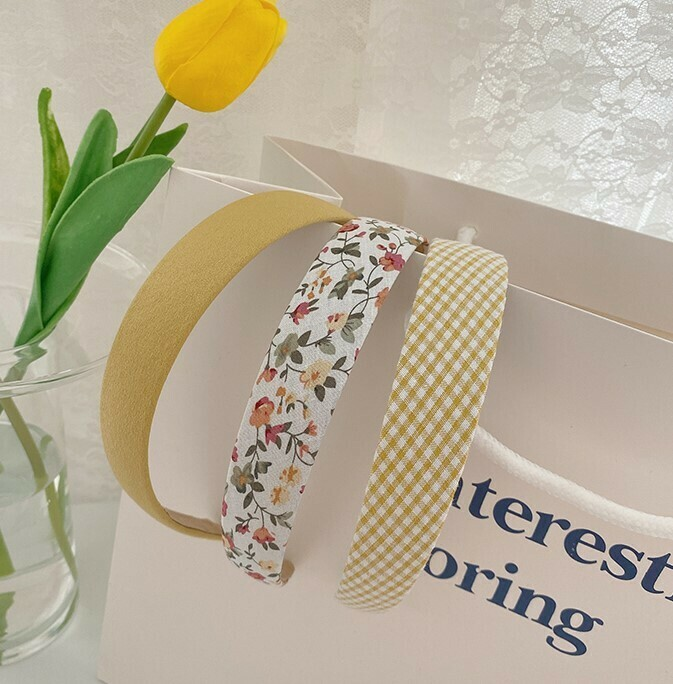 3-pack plain & printed cotton headband