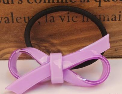 Acrylic bow hair tie