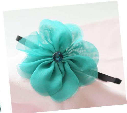 Summer chiffon flower headband