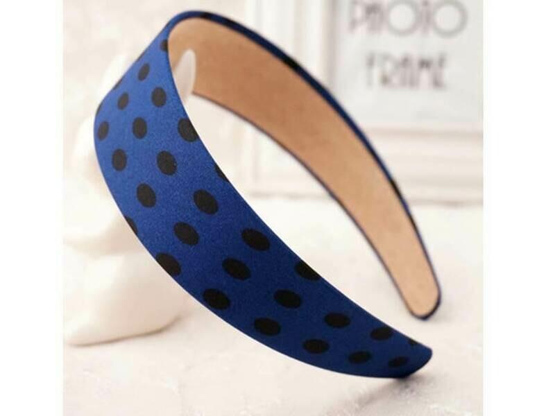 Polka dots wide headband