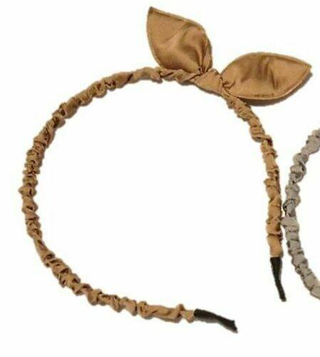 Satin-ribbon cute bunny ears headband