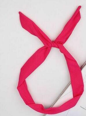 Plain colours chiffon twist hair scarf