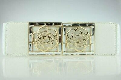 Gold rose stretch belt