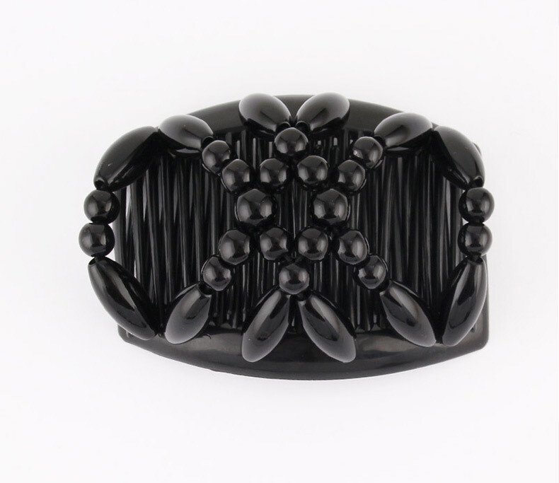 Small size beaded butterfly hair comb