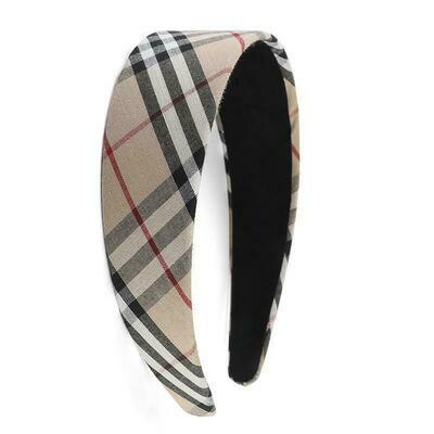 4cm-wide Scotch plaids headband