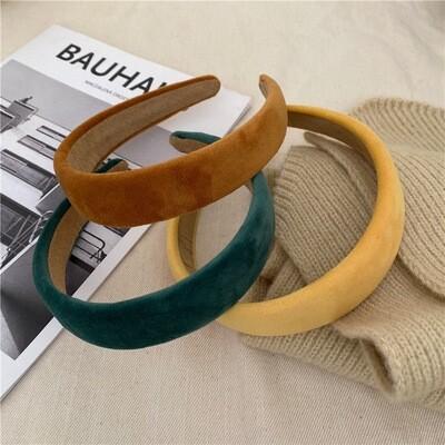 3cm wide soft velvet headband