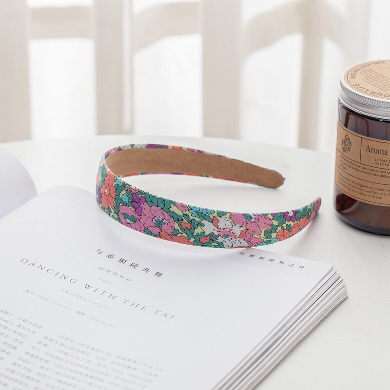 2.5cm wide cotton headband in multi printings