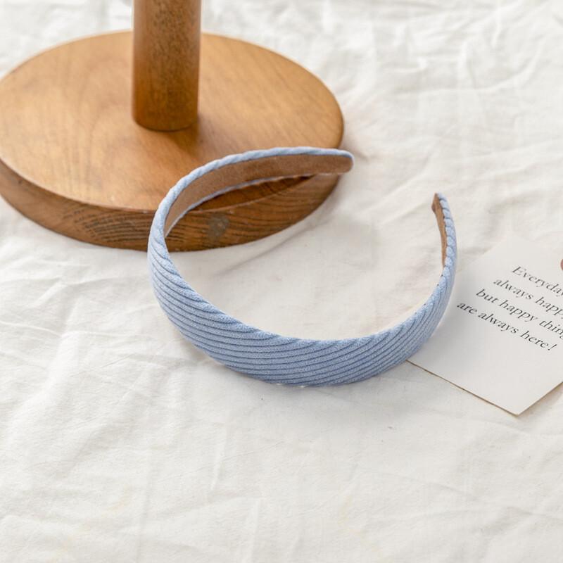 Plain colour corrugated corduroy headband