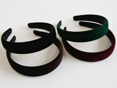 Thinly padded smooth velvet headband
