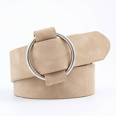 Simple ring buckle belt