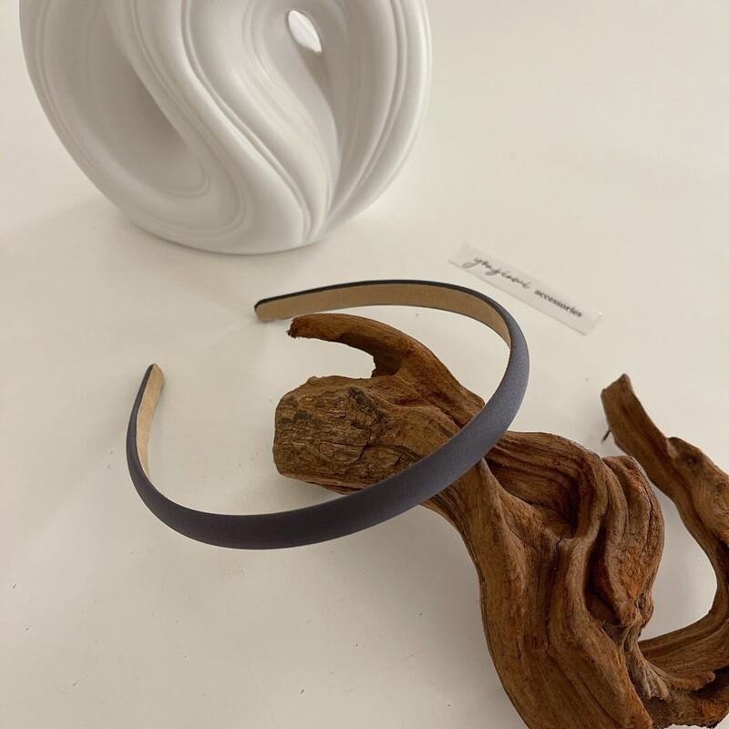 1cm wide smooth satin slim headband