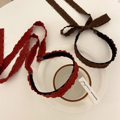 Chiffon ribbon headband with long tails