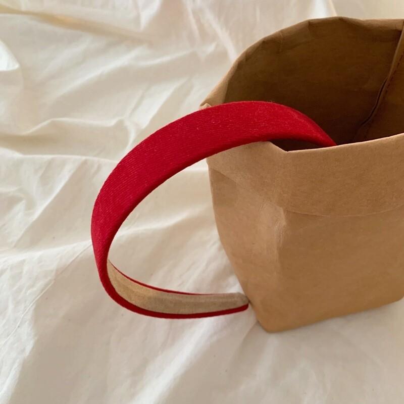 Plain colour knitted fabric headband