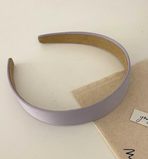 Plain colour satin chiffon headband