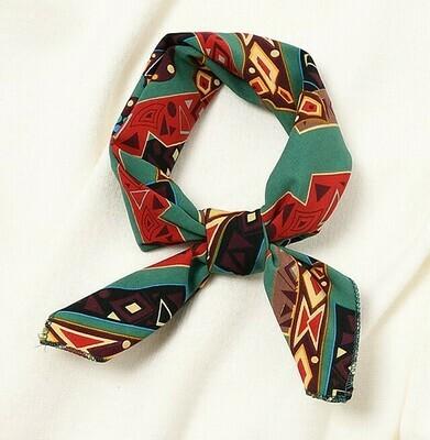 Geometry chiffon head scarf / Neck scarf